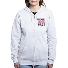 Fighting For 2nd Base Zip Hoodie