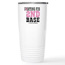 Fighting For 2nd Base Travel Mug
