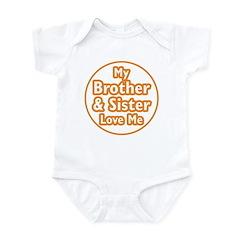 Bro and Sis Love Me Infant Bodysuit