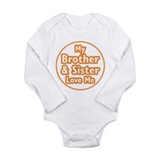 Bro and Sis Love Me Long Sleeve Infant Bodysuit