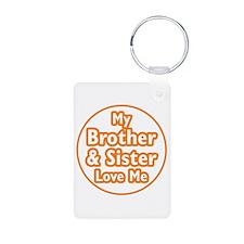 Bro and Sis Love Me Keychains