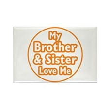 Bro and Sis Love Me Rectangle Magnet