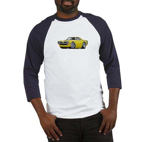 1970 Super Bee Yellow Hood Scoop Car Baseball Jers