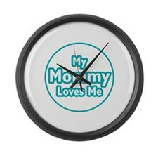 Mommy Loves Me Large Wall Clock
