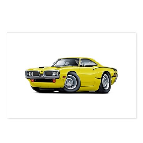 1970 Super Bee Yellow Car Postcards (Package of 8)