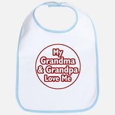 Grandma and Grandpa Love Me Bib