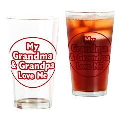 Grandma and Grandpa Love Me Drinking Glass