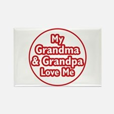 Grandma and Grandpa Love Me Rectangle Magnet