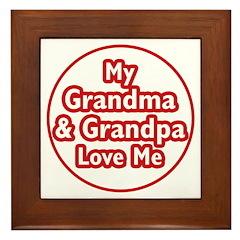 Grandma and Grandpa Love Me Framed Tile