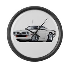 1970 Super Bee White Car Large Wall Clock