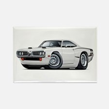 1970 Super Bee White Car Rectangle Magnet