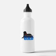 Black Labrador Retriever Dad Water Bottle