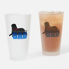 Black Labrador Retriever Dad Drinking Glass