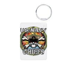US Navy Chiefs Skull Keychains