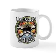 US Navy Chiefs Skull Mug