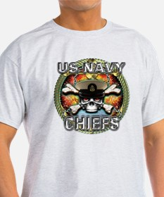 US Navy Chiefs Skull T-Shirt