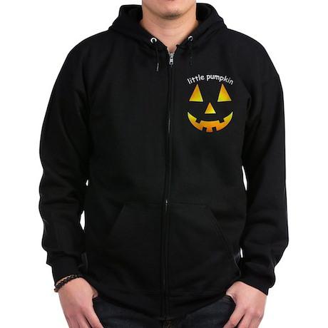 Little Pumpkin Zip Hoodie (dark)
