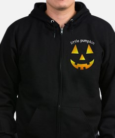 Little Pumpkin Zip Hoodie (dark)