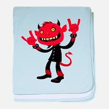 Heavy Metal Devil baby blanket