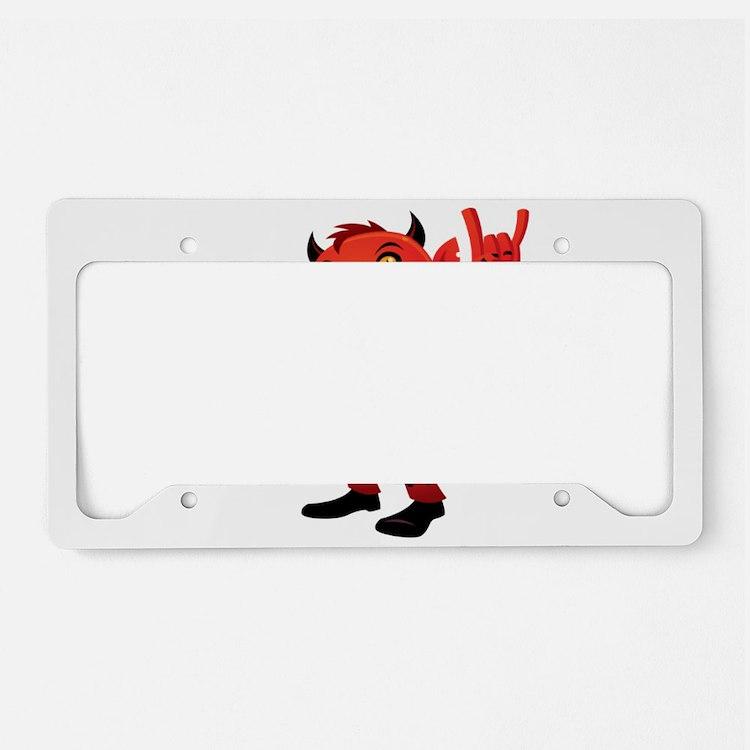heavy metal devil license plate holder