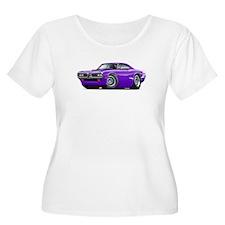 Super Bee Purple-White Hood Scoop T-Shirt