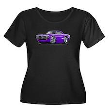 Super Bee Purple-White Hood Scoop T