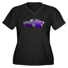 Super Bee Purple-White Hood Scoop Women's Plus Siz