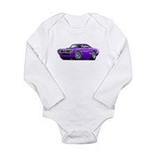 Super Bee Purple-White Hood Scoop Long Sleeve Infa