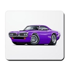 Super Bee Purple-White Hood Scoop Mousepad