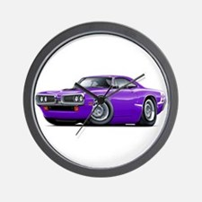 Super Bee Purple-White Hood Scoop Wall Clock