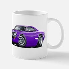 Super Bee Purple-White Hood Scoop Mug