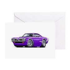 Super Bee Purple-White Hood Scoop Greeting Card