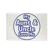 Aunt and Uncle Love Me Rectangle Magnet