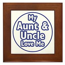 Aunt and Uncle Love Me Framed Tile