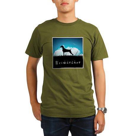Nightsky Weimaraner Organic Men's T-Shirt (dark)