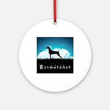 Nightsky Weimaraner Ornament (Round)