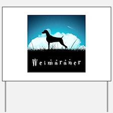Nightsky Weimaraner Yard Sign
