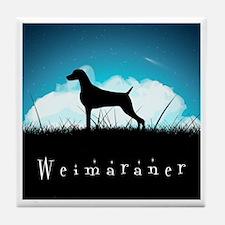 Nightsky Weimaraner Tile Coaster