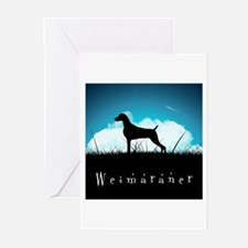 Nightsky Weimaraner Greeting Cards (Pk of 20)
