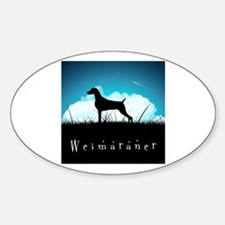 Nightsky Weimaraner Sticker (Oval)