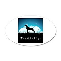 Nightsky Weimaraner 38.5 x 24.5 Oval Wall Peel