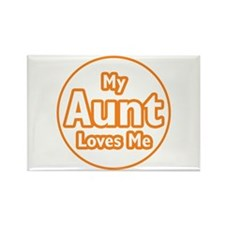 My Aunt Loves Me Rectangle Magnet (10 pack)