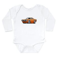 Super Bee Orange Hood Scoop Car Long Sleeve Infant