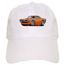 Super Bee Orange Hood Scoop Car Baseball Cap