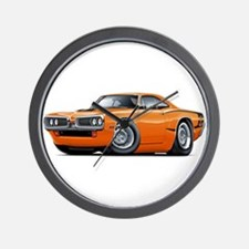 Super Bee Orange Hood Scoop Car Wall Clock