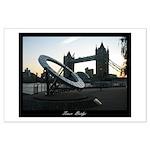 Sundial at Tower Bridge Large Poster