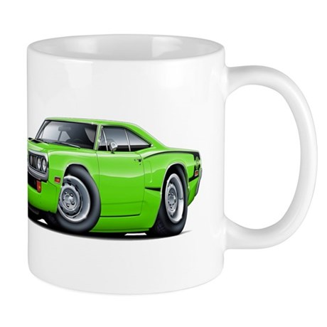 Super Bee Lime Hood Scoop Car Mug