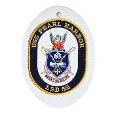 USS Pearl Harbor LSD 52 Oval Ornament
