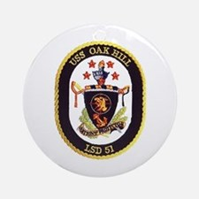 USS Oak Hill LSD 51 Ornament (Round)