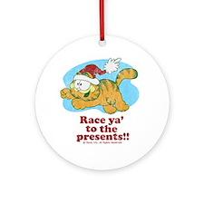 Race Ya' to the Presents!! Ceramic Ornament
